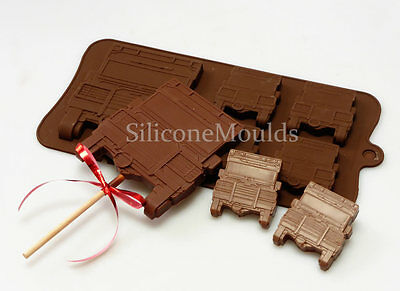 4+1 Landrover Car 4x4 Off Road Novelty Chocolate Candy Bar Silicone Mould Lolly