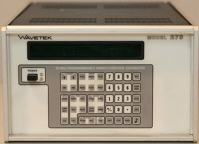 Wavetek 273 Option 2 Synthesized Function Generator 12 Mhz