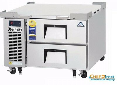 Everest Ecb36d2 36-38 One Section Two Drawer Side Mount Refrigerated Chef Base