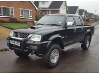 NO DENTS 54 reg Mitsubishi L200 2.5TD Warrior, Leather, Hardtop Available P/X, Finance,Credit cards