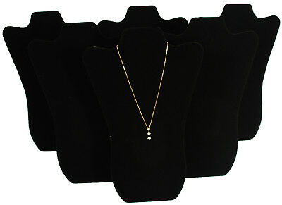 6 Black Velvet Pendant Necklace Jewelry Display 14
