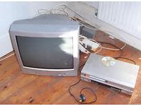 """Toshiba """"N21B2 colour TV & Ferguson DVD/VCR/vhs player"""