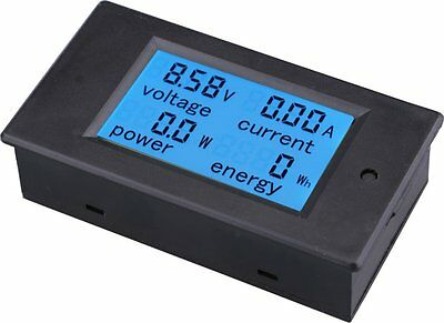 Dc 6.5-100v 50a Meter Voltage Current Power Energy Combo Monitor  50a Shunt