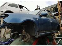 Subaru impreza hawk eye wings doors blue