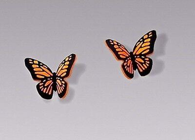 Small Butterfly Earrings - Sienna Sky Small Folded MONARCH BUTTERFLY Posts EARRINGS Hypoallergenic + Box