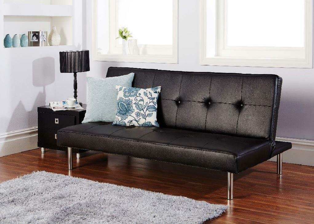 Brand New Click Clack Faux Leather Sofa Bed On Sale