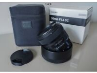Sigma 30mm F1.4 DC Art Pentax Fit