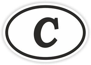 C-ALPHABET-LETTER-OVAL-STICKER-bumper-decal-car-motocross-motorcycle-Aufkleber