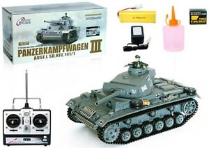 German Panzer Panzerkampfwagen III 1:16 Airsoft Battle Tank RC Remote Control