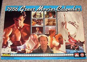 Gulf Petro Canada Great Movies Rocky Top Gun Dalmatians Calendar