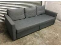 FREE DELIVERY IKEA FRIHETEN GREY 3 SEAT SOFA BED GREAT CONDITION