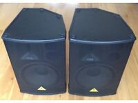 PAIR BEHRINGER PRO B-1520 SPEAKERS..! A PAIR IN VERY GOOD CONDITION COMPLETE WITH B-1520 COVERS..!!
