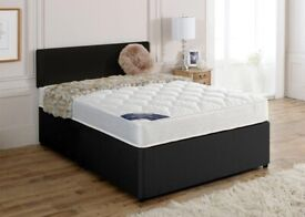 💛💛CASH ON COLLECTION💛💛NEW DOUBLE DIVAN BED BASE INCLUDING MATTRESS (Headboard Optional)