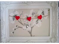 Shabby Chic Memo Board Frame Cherry Blossom