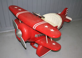 AFC Red Baron Pedal Car Plane Mint Condition Bargain Sale price Would make an Ideal Christmas Gift