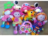 Bundle of pink baby toys