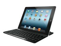 Logitech Ultrathin Slim Bluetooth UK Keyboard Cover Case for iPad 2 3 & 4 Black