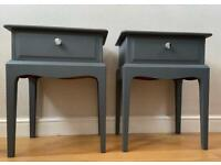Stag Minstrel Bedside Tables Grey Soapstone Fusion Mineral Paint Side Tables