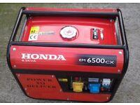 Honda generator. .6.5kva. ..