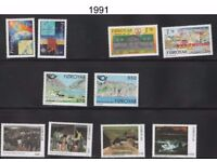 STAMPS - Faroe Is - 1991-1997 unmounted mint sets - MNH