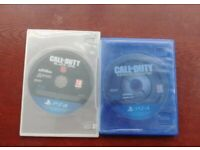 PS4 Call of Duty Black Ops 4 & Infinite Warfare game discs in mint condition
