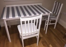 Set of wooden table and chairs