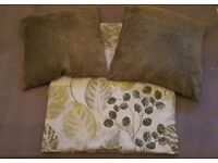 Patio door curtains and 2 cushions