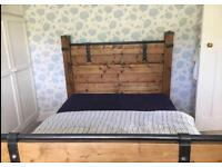 ANTIQUE SOLID WOOD DOUBLE BED - I CAN DELIVER