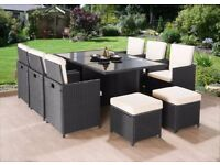 **FREE UK DELIVERY** 11 Piece Rattan Garden Conservatory Furniture - QUICK DELIVERY!
