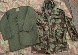 1970s British Army Cold Weather Falklands Parka with Quilted Liner (size LARGE)