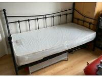 Single bed couch with mattress