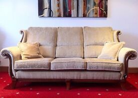Wade 3 seater sofa, ladies chair with footstool and recliner.