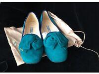 100% Original Prada Women Shoes Flats Balerina Size 6 (39.5 ) NEW Boxed Dust cloth & bag - Bargain