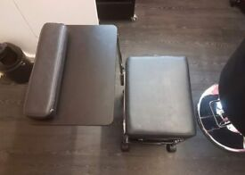 Beauty salon manicure trolley chair and table