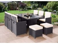 BRAND NEW **FREE UK DELIVERY** 11-Piece Rattan Garden Conservatory Furniture - 50% OFF!