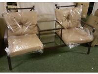 Ferndown Duo Seat With Cushions (Beige)