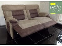 Designer Brown fabric 3 seater sofa + chair (228) £649
