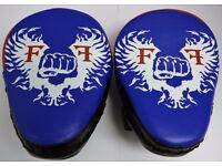 Furiousfistsuk Genuine Leather Focus Pads Blue color