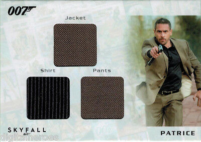 James Bond 007 Autograph & Relic Skyfall STC1 Costume Card Ola Rapace as Patrice - Skyfall Costumes