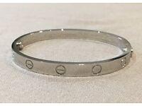 Cartier Silver Love Screw Nail Bracelet/Bangle