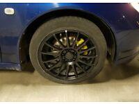 "17"" 5x100 multifit x3 Calibre Rapide alloys in satin matt black... replacement / spares?"