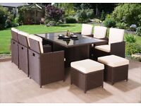 **FREE UK DELIVERY** OVER 40% OFF! 11-Piece Rattan Garden Conservatory Furniture - BRAND NEW!