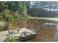 sears spyder 500, vintage American beach cruiser bicycle, not schwinn or Raleigh chopper