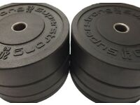 Bumper Plates All sizes and sets in stock now!