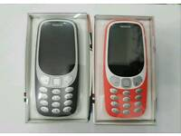 Unlocked Brand New Orignal Nokia 3310 3G 2017 Open To All Networks Mostly All Colours
