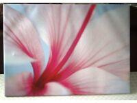 Pretty Flower Design Canvas Type Print 70cmx50cm
