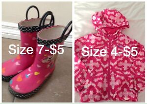 Rain boots (sold), spring jacket