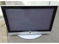 42 inch Samsung tv .. heavy but in really good condition. Chris and co