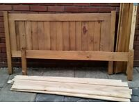 wooden double bed. In good condition