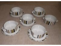 MIDWINTER SOUP BOWLS AND DRIP SAUCERS